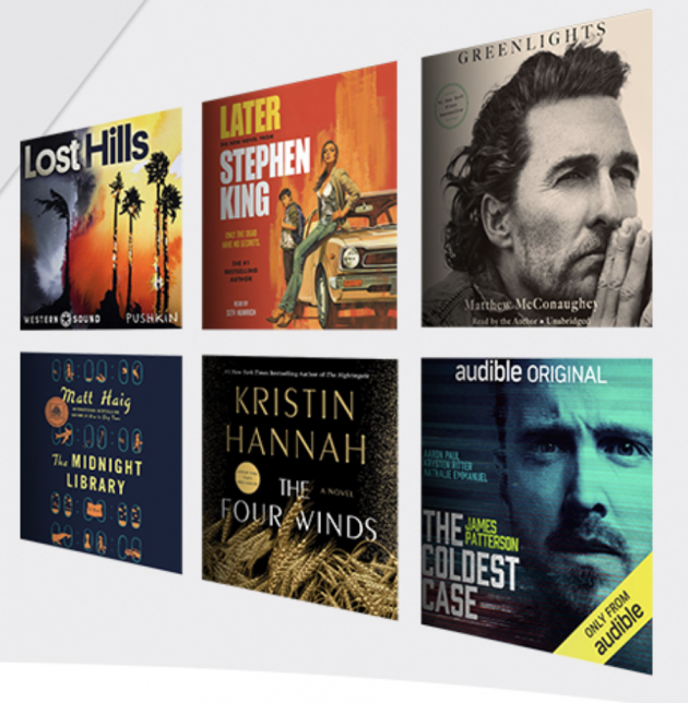 Audible deals on books