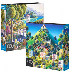 2-Pack of 1000-Piece Jigsaw Puzzles