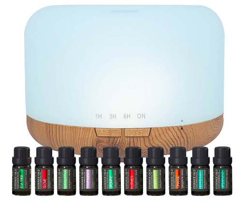 Pure Daily Care Cylinder Aromatherapy Diffuser Set