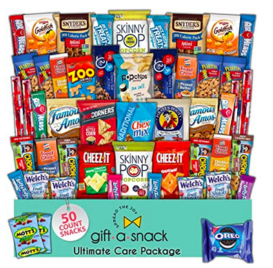 Snack Box Variety Pack Care Package (50 Count)
