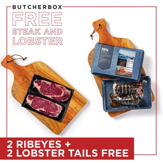 free lobster and steak with ButcherBox discount code