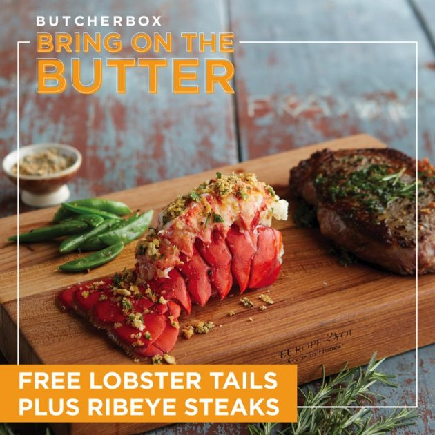 ButcherBox discount code for free lobster tails and ribeye steaks