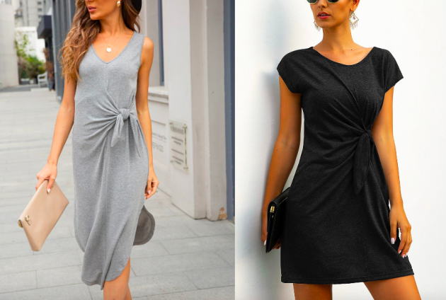 Twist-Front Dresses