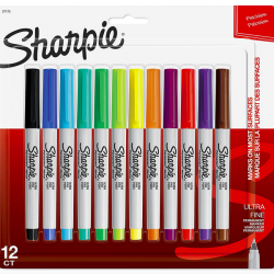 Sharpie Permanent Markers, Ultra-Fine Point