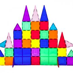 61-Piece 3D Magnetic Building Tile Play Set