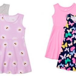 Wonder Nation Girls' Sleeveless Play Dress, 2-Pack