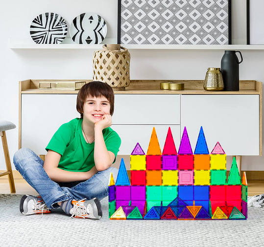 PicassoTiles 60-Piece Magnet Building Tiles Set