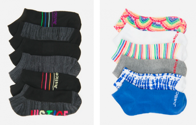 Justice Girl's 6-Pack Socks
