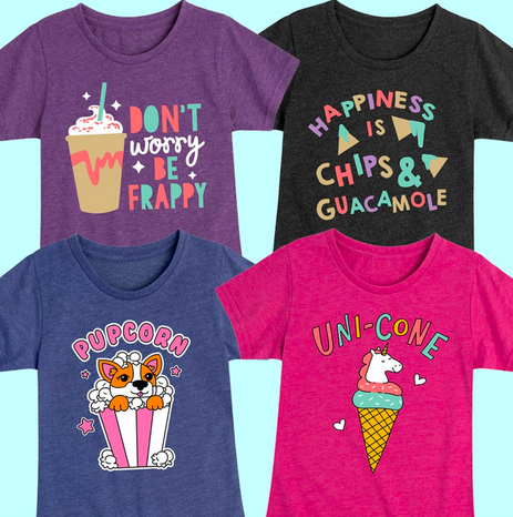 Girls Funny Food T-Shirts