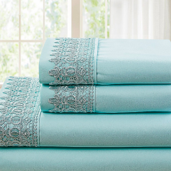 Lace & Pleated Sheet Sets