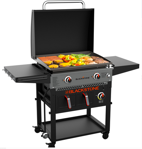 Blackstone 2-Burner 28″ Griddle with Electric Air Fryer and Hood only $397 shipped (Reg. $450!)
