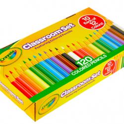 Crayola Classroom 120-Piece Set Colored Pencils