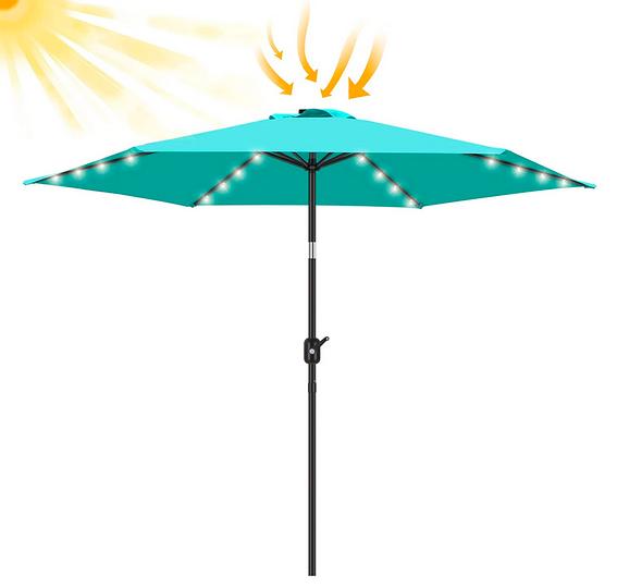 LED Lighted Patio Umbrella