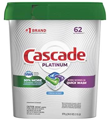 CASCADE Fresh Scent, 62 Count