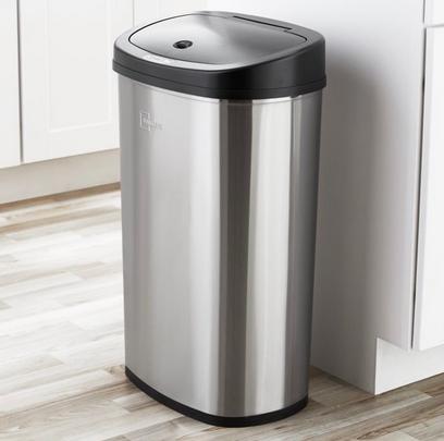 Mainstays, 13.2 Gal/50 L Motion Sensor Kitchen Garbage Can