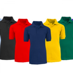 Boys' Short Sleeve School Uniform Pique Polo Shirts (3-Pack)