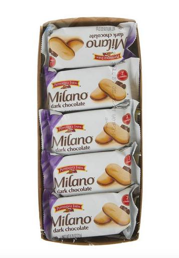 Pepperidge Farm Milano Cookies, Dark Chocolate, 10 Packs