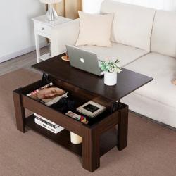 "Modern 38.6"" Wood Lift Top Coffee Table"
