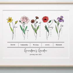 Birth Flower Bunch Prints