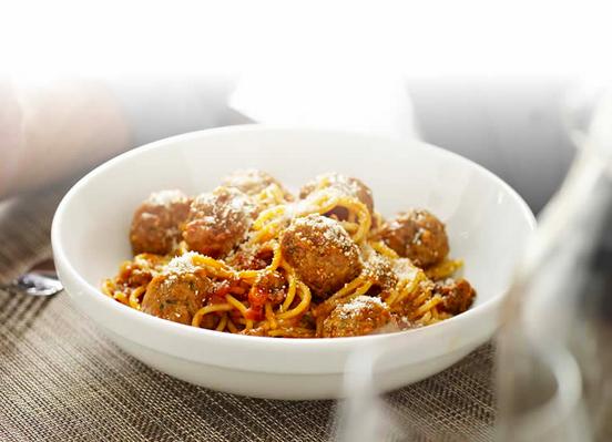 FREE order of Mom's Ricotta Meatballs + Spaghetti