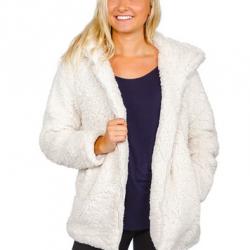 Madden Girl Women's Sherpa Zip Up Jacket