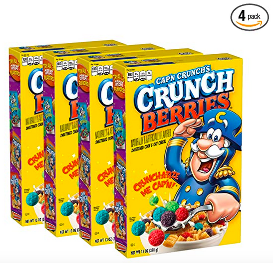 Cap'n Crunch with Crunchberries 4-Pack – Only $8.36