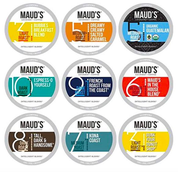 Maud's 9 Flavor Original Coffee Variety Pack (Original 9 Blends), 80ct.