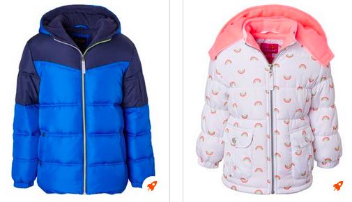 Kid's Puffer Coats Conscionable $17.99!
