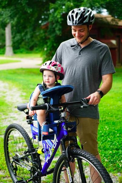 WeeRide Kangaroo LTD Center Mounted Front Facing Child Carrier for Bikes