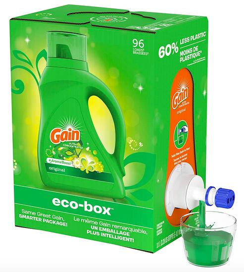 Gain Liquid Laundry Detergent Soap Eco-Box