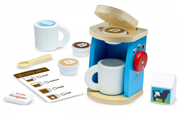 Melissa & Doug 11-Piece Brew and Serve Wooden Coffee Maker Set only $12.91 (Reg. $24!)