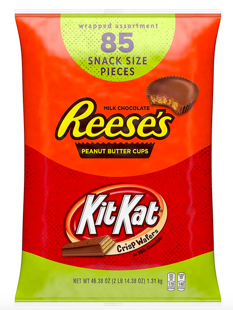 REESE'S and KIT KAT Assorted Milk Chocolate Snack Size Candy