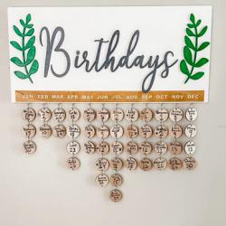 Never-Forget Birthday Reminder Calendar Board