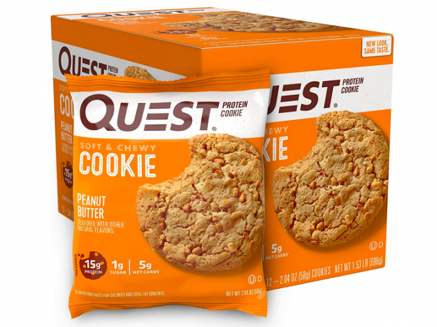 Quest Nutrition Peanut Butter Protein Cookie, High Protein, Low Carb, 12 Count