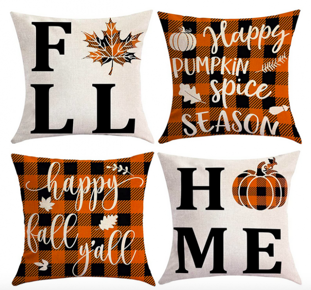 Home Fall Pillow Covers 18x18 Set of 4