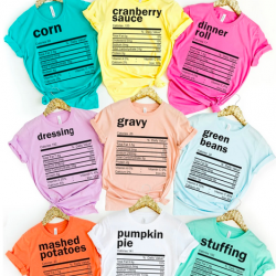 Thanksgiving Nutritional Facts Tees
