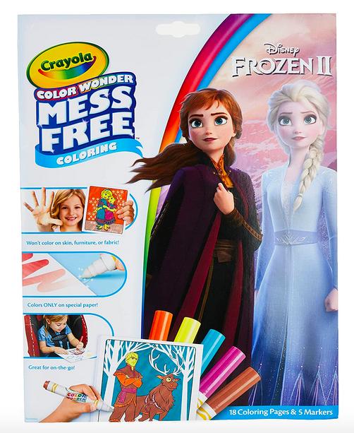 Crayola Frozen Colour Wonderment Colouring Publication & Markers Lone $3.64!