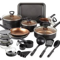 Cooks 30-piece Aluminum Non-Stick Cookware Set