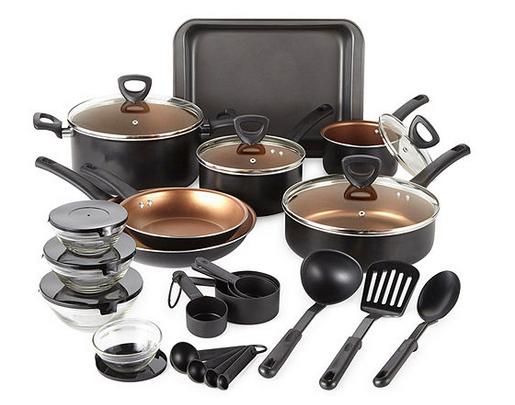 Cooks 30-piece Aluminum Non-stick Cookware Set Lone $59.88!