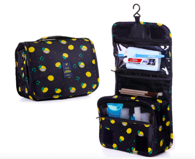 Portable Toiletry & Cosmetic Bag Lone $7.84!