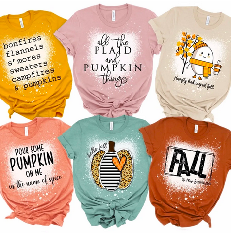 Favourite Autumn Bleached Tees Lone $18.99 Shipped!