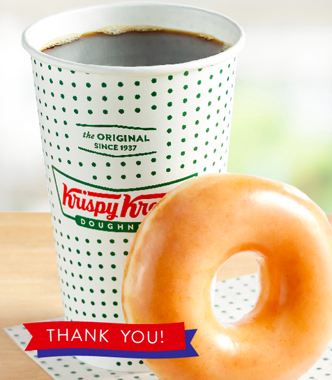 Krispy Kreme: Escaped Doughnut And Java For Archetypal Responders On October 28th!