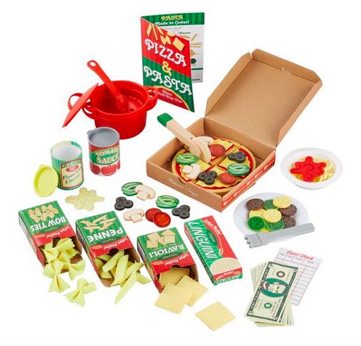 Melissa & Doug Deluxe Pizza & Pasta Drama Set Lone $20 (reg. $55!)