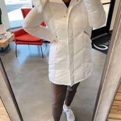 Jessica Simpson Women's Long Puffer Fur Hood Jacket